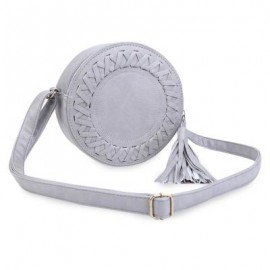 image of GUAPABIEN TASSEL EMBELLISHMENT ROUND WEAVE DUAL PURPOSE SHOULDER MESSENGER BAG FOR WOMEN ??