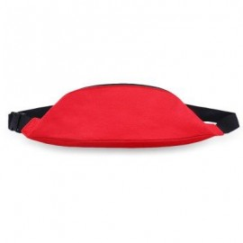 image of WATER RESISTANT FAKE SYNTHETIC RUBBER SHOULDER MESSENGER CHEST WAIST BAG FOR UNISEX (RED) HORIZONTAL