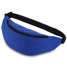 image of WATER RESISTANT FAKE SYNTHETIC RUBBER SHOULDER MESSENGER CHEST WAIST BAG FOR UNISEX (BLUE) HORIZONTAL