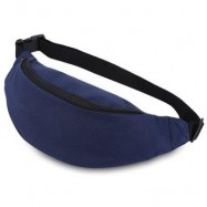 image of WATER RESISTANT FAKE SYNTHETIC RUBBER SHOULDER MESSENGER CHEST WAIST BAG FOR UNISEX (PURPLISH BLUE) HORIZONTAL