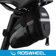 image of ROSWHEEL OUTDOOR BIKE SADDLE BAG SEAT TAIL POUCH (BLACK)