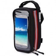 image of DUUTI BIKE BAG TOUCHSCREEN CYCLING TOP FRONT TUBE FRAME SADDLE BAG FOR PHONE CASE (RED)