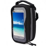 image of DUUTI BIKE BAG TOUCHSCREEN CYCLING TOP FRONT TUBE FRAME SADDLE BAG FOR PHONE CASE (BLACK)