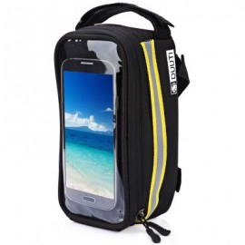 image of DUUTI BIKE BAG TOUCHSCREEN CYCLING TOP FRONT TUBE FRAME SADDLE BAG FOR PHONE CASE (YELLOW)