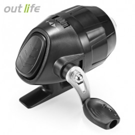 image of OUTLIFE FISH CLOSED WHEEL SPINCAST REEL WITH FISHING LINE (BLACK) -