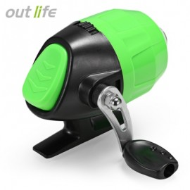 image of OUTLIFE FISH CLOSED WHEEL SPINCAST REEL WITH FISHING LINE (GREEN) -