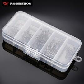 image of PROBEROS 50PCS NUMBER 2 / 4 / 6 / 8 / 10 FISHING TREBLE HOOK WITH BOX (GUN METAL) -