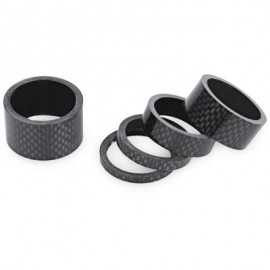 image of 5PCS HEADSET CARBON FIBER STEM SPACER FOR MOUNTAIN BIKE 5.50 x 3.50 x 3.50 cm