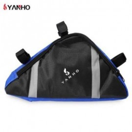 image of YANHO OUTDOOR CYCLING TOP TUBE TRIANGLE BAG (BLUE)