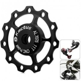 image of KACTUS CNC 11T JOCKEY WHEEL REAR DERAILLEUR PULLEY WITH ALLUMINUM ALLOY MATERIAL FOR SHIMANO SRAM / 7 / 8 / 9 / 10 SPEED (BLACK)