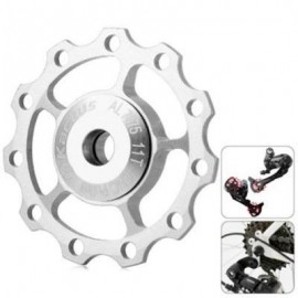 image of KACTUS CNC 11T JOCKEY WHEEL REAR DERAILLEUR PULLEY WITH ALLUMINUM ALLOY MATERIAL FOR SHIMANO SRAM / 7 / 8 / 9 / 10 SPEED (SILVER)