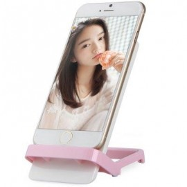 image of PHONE STAND HOLDER BRACKET FOR IPHONE 6 / 6 PLUS SAMSUNG HTC ETC. (PINK) -