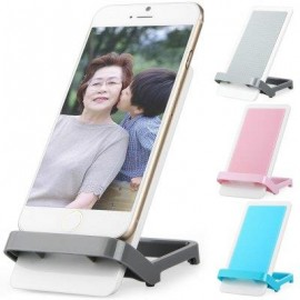 image of PHONE STAND HOLDER BRACKET FOR IPHONE 6 / 6 PLUS SAMSUNG HTC ETC. (GRAY) -
