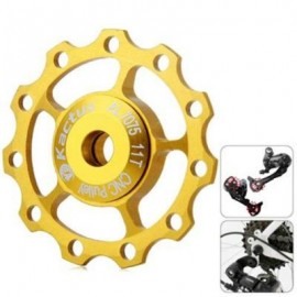 image of KACTUS CNC 11T JOCKEY WHEEL REAR DERAILLEUR PULLEY WITH ALLUMINUM ALLOY MATERIAL FOR SHIMANO SRAM / 7 / 8 / 9 / 10 SPEED (GOLDEN)