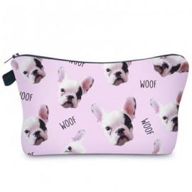 image of ANIMAL PRINT CLUTCH MAKEUP BAG (PINK) -