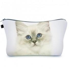 image of ANIMAL PRINT CLUTCH MAKEUP BAG (WHITE) -