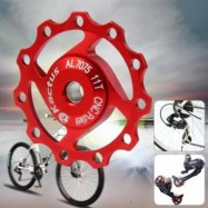 image of KACTUS A04 JOCKEY WHEEL REAR DERAILLEUR PULLEY FOR SHIMANO SRAM / 7 / 8 / 9 / 10 SPEED (RED)