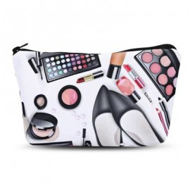 image of 3D COSMETICS PRINT CLUTCH MAKEUP BAG (BLACK) -