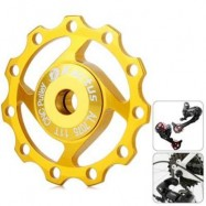 image of KACTUS A04 JOCKEY WHEEL REAR DERAILLEUR PULLEY FOR SHIMANO SRAM / 7 / 8 / 9 / 10 SPEED (GOLDEN)
