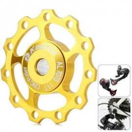 image of KACTUS GUIDE ROLLER WHEEL REAR DERAILLEUR PULLEY FOR SHIMANO SRAM (GOLDEN)