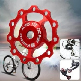 image of KACTUS GUIDE ROLLER WHEEL REAR DERAILLEUR PULLEY FOR SHIMANO SRAM (RED)