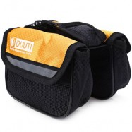 image of DUUTI CYCLING BIKE TOP FRAME FRONT PANNIER SADDLE TUBE BAG DOUBLE POUCH (YELLOW)