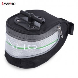 image of YANHO OUTDOOR WATER RESISTANT BICYCLE SADDLE BAG BIKE BACK SEAT TAIL REAR PANNIER (BLACK AND GREY)