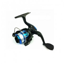 image of OUTDOORS SPINNING WHEEL TYPE FISHING REEL PLATING HAIRTAIL LINE 80 METERS (BLUE) 1PC