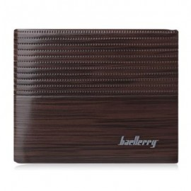 image of STRIPE PATTERN LETTER EMBELLISHMENT OPEN HORIZONTAL WALLET FOR MEN (LIGHT COFFEE) HORIZONTAL