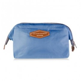 image of EXCLUSIVE PORTABLE MULTIFUCTIONAL STEEL FRAME TRAVEL COSMETIC BAG (AZURE) Standard