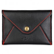 image of MATTE PU LEATHER ULTRA-THIN WALLET (BLACK) 11.00 x 2.00 x 7.80 cm
