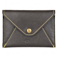 image of MATTE PU LEATHER ULTRA-THIN WALLET (DEEP GRAY) 11.00 x 2.00 x 7.80 cm