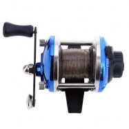 image of MINI RIGHT HAND DRUM FISHING WIRE WINDER WITH 0.2MM LINE 50M (BLUE)