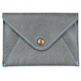 image of MATTE PU LEATHER ULTRA-THIN WALLET (LIGHT GRAY) 11.00 x 2.00 x 7.80 cm