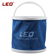 image of LEO CANVAS FISHING PAIL BUCKET FOLDING OUTDOOR EQUIPMENT (BLUE)