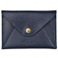 image of MATTE PU LEATHER ULTRA-THIN WALLET (BLUE) 11.00 x 2.00 x 7.80 cm