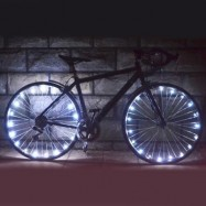 image of WHEELIGHT A02 COLORFUL LED BICYCLE WHEEL SPOKE LIGHT STRING (WHITE)