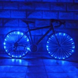 image of WHEELIGHT A02 COLORFUL LED BICYCLE WHEEL SPOKE LIGHT STRING (BLUE)