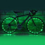 image of WHEELIGHT A02 COLORFUL LED BICYCLE WHEEL SPOKE LIGHT STRING (GREEN)