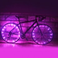 image of WHEELIGHT A02 COLORFUL LED BICYCLE WHEEL SPOKE LIGHT STRING (PINK)