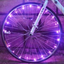 image of BICYCLE CYCLING COLORFUL COOL 20 LEDS SAFETY SPOKE WHEEL LIGHT BIKE ACCESSORIES (PINK)