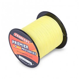 image of PROBEROS 300M DURABLE PE 4 STRANDS BRAIDED FISHING LINE ANGLING ACCESSORIES (YELLOW) 0.4#
