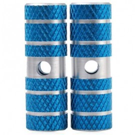 image of 2PCS AXLE FOOT PEGS STUNT PEDAL FOR BMX MOUNTAIN BIKE BICYCLE CYCLING (BLUE) 7.00 x 2.30 x 2.30 cm