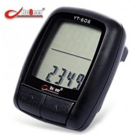image of BOGEER YT - 606 WATERPROOF WIRED BIKE COMPUTER SPEEDOMETER 16 FUNCTIONS ODOMETER BICYCLE ACCESSORY (BLACK)
