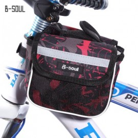 image of B - SOUL YA039 SADDLE TUBE BAG DOUBLE POUCH FOR BIKE TOP FRAME FRONT (RED)
