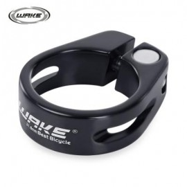 image of WAKE 31.8MM MTB BICYCLE BIKE QUICK RELEASE ALUMINUM ALLOY SEAT POST CLAMP TUBE CLIP (BLACK) 4.50 x 3.60 x 1.30 cm