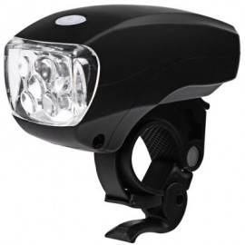 image of SUPER BRIGHT WATER RESISTANT 5 LEDS 3 MODES CYCLING BIKE FRONT LIGHT LAMP (BLACK)
