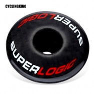image of CYCLINGKING BIKE CARBON FIBER STEM HEADSET TOP COVER (RED WITH BLACK)