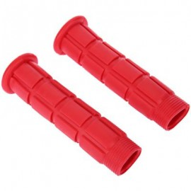 image of PAIRED SOFT CYCLING ADHESIVE PERFORMANCE RUBBER HANDLEBAR GRIP (RED) 3.90 x 3.90 x 12.60 cm