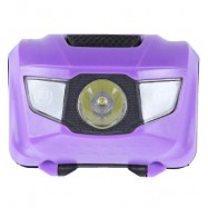 image of 3-LED BICYCLE LIGHT WATER RESISTANT TORCH WITH MOUNT FLASH (PURPLE)